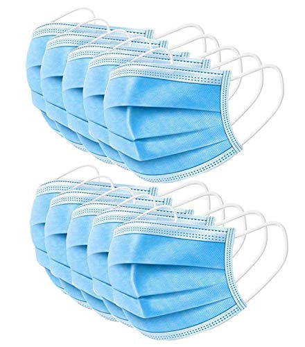 Anti-Spitting Protective Mask Dustproof Cover,Prevent Saliva Safety Face Shields,Blue 100 PCS
