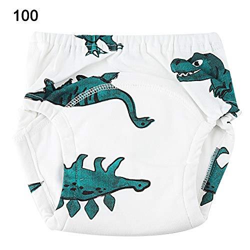 Cartoon dinosaurus patroon Baby katoenen trainingsbroek Waterdichte luier Herbruikbaar ondergoed(100)