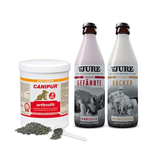 CANIPUR Arthrofit 500 g + Gratis 1 x TJURE Kleiner Racker + 1 x TJURE Treuer Gefährte - Top bei Problemen mit dem Bewegungsapparat bei Hunden!