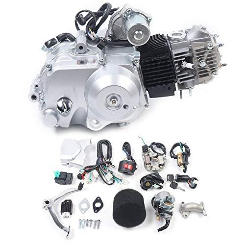 125CC Engine 4-Stroke Motor Semi-Auto 3 Speed Engine Motor Reverse w/Wiring Harness for Go Kart ATV Quad Bike Buggy Pit ATV ATC70 90 CDI