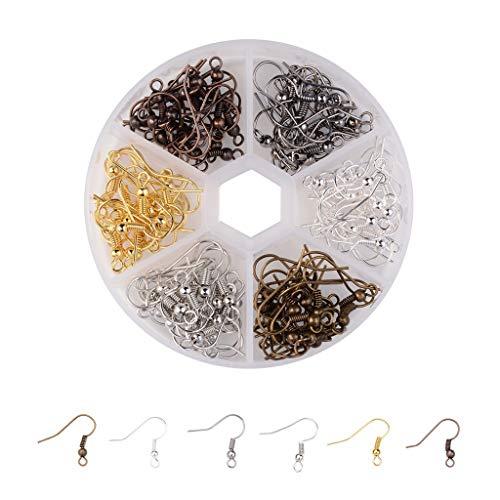 Vicco Oorbellen, messing, oorhaak, oorhaak, Franse vishaken, 6 kleuren voor sieraden