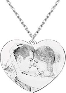 She1001 Custom Picture Necklace Personalized Photo Necklace with Any Name Pet Memory Gift...