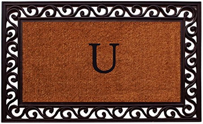 Home & More 100061830U Rembrandt Monogram Doormat 18-Inch X 30-Inch (Letter U)