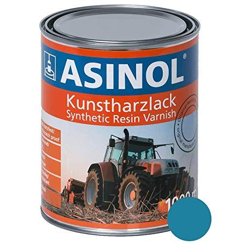 ASINOL EICHER HELLBLAU 1.000 ml Kunstharzlack Farbe Lack 1l Liter Dose