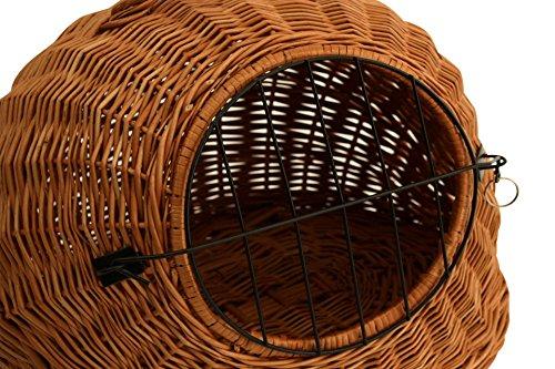 Katzenkorb Weide Katzenhöhle 50x45x40cm Transportbox Weidenkorb Katzenbox Katze - 2