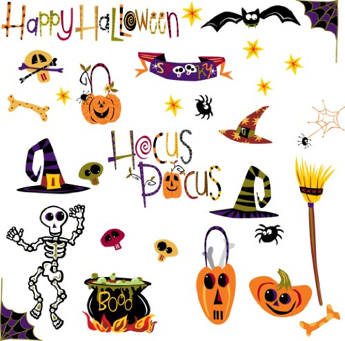 RoomMates Pj2003scs Happy Halloween Peel & Stick Stickers muraux