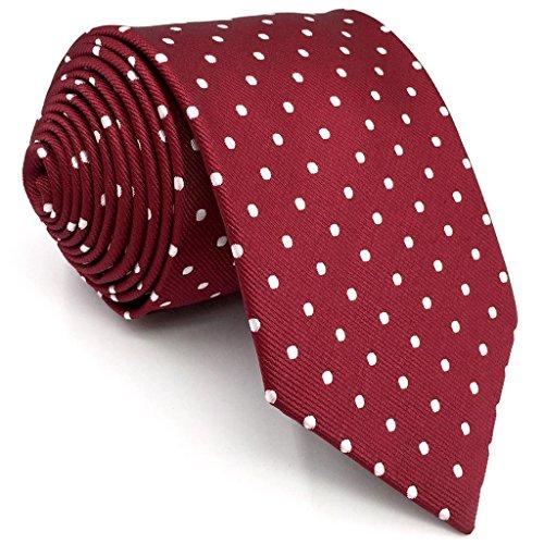 shlax&wing Gris Corbatas Para Hombre Puntos Corbata Flaca Puntos Traje de negocios Nuevo (Corbata 147cm x 8cm)