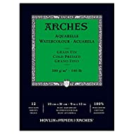 """Arches Watercolor Paper Pad, 140 pound, Cold Press, 9""""x12"""""""