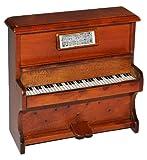 Miniatur Klavier - Holz Maßstab 1:12 - aufklappbar Möbel dunkel braun Puppenhaus Piano -...