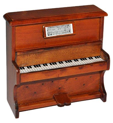 alles-meine.de GmbH Miniatur Klavier - Holz Maßstab 1:12 - aufklappbar Möbel dunkel braun Puppenhaus Piano - Musikinstrument Musik Instrument