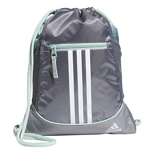 adidas Unisex Alliance II Sackpack, Green Tint/Grey/White, OSFA