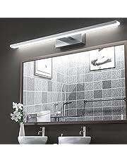 LED Spiegellamp, VITCOCO 15W Led Lamp Badkamer Spiegel Licht Aluminium 60cm Neutraal wit 6000K make-up licht kast licht opbouwlicht kastverlichting klemlicht IP44 Waterdicht[Energieklasse A+]