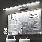 Lámpara de Espejo Aplique Baño,VITCOCO Lámpara LED 15W 1200LM 60cm Blanca Fría 6000K Luz de maquillaje Con interruptor Luz de espejo de baño impermeable IP44