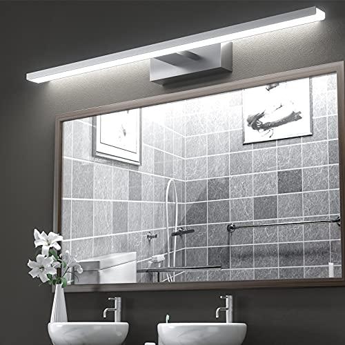 Lámpara de Espejo Aplique Baño,VITCOCO Lámpara LED 15W 1200LM 60cm Blanca Fría 6000K Luz de maquillaje Con interruptor Luz de espejo de baño impermeable IP44 ✅