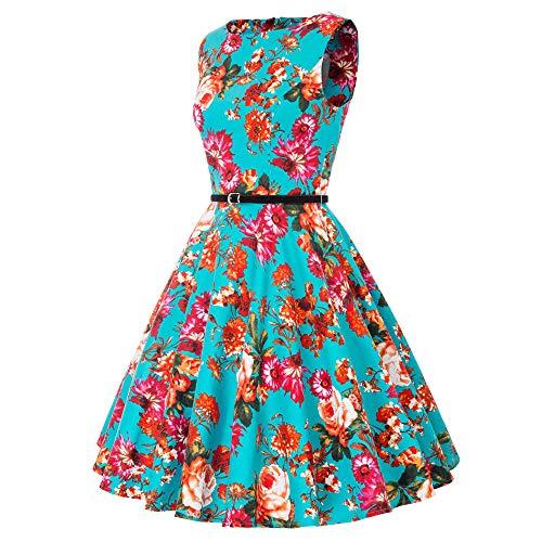 Damen rockabilly kleid 50er jahre kleid festliche kleider vintage knielang partykleider Größe M CL6086-4 - 4