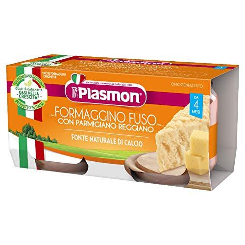 Plasmon Omogeneizzato, Formaggino Fuso e Parmigiano Reggiano, 24 Vasetti x 80 g