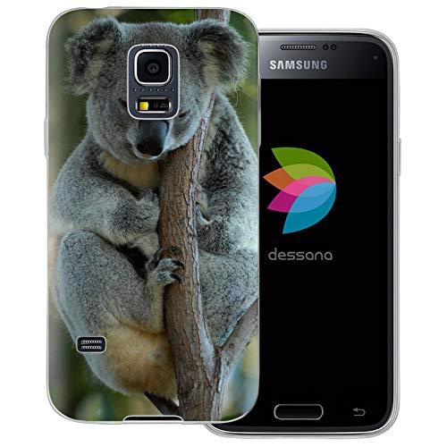 dessana Koala - Cover trasparente per Samsung Galaxy S5 Mini, motivo: orsetto koala