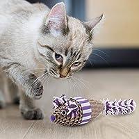 【クリスマスギフト】耐久性のあるスクラッチマウス、ペーパーグリーンキャットスクラッチャー、キャットスクラッチャー用キャットマウス(purple)