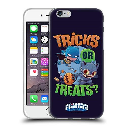 Head Case Designs Licenza Ufficiale Super Friends DC Comics Batman Dolcetto O Scherzetto Vacanze Bambini Cover in Morbido Gel Compatibile con Apple iPhone 6 / iPhone 6s