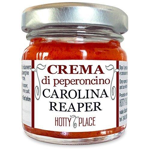 Crema CAROLINA REAPER Peperoncino ESTREMO Più Piccante al Mondo Guinness World Record VASO VETRO 30g