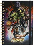 Avengers Infinity War - Cuaderno A5 Espiral Space Montage Holo
