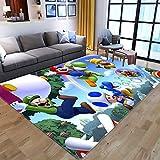Alfombras con estampado de dibujos animados en 3D de Anime Super Mario para sala de estar, dormitorio, alfombra de área grande, alfombrillas de juego para niños, alfombras grandes para niños 60x90cm 8