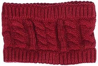 Lixada Women Fashion Knitted Headband Winter Warm Cap Crochet Head-Wrap No Top Hat Headband