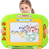 Acksonse Magnetic Drawing Board for Toddlers, Travel Size Kids Magnetic Drawing Board with Pen & 4 Stamps, Large Etch A Magnet Sketch Pad Educational Learning Toys for 3 4 5 6 Year Old Girls Boys Gift