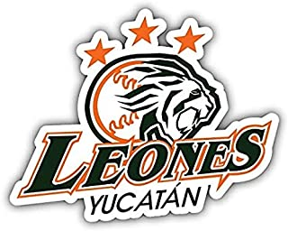 Leones de Yucatan MILB Minor Baseball MLB - Sticker Graphic - Auto Wall Laptop Cell Truck Sticker - Easy Stick Sticker Graphic