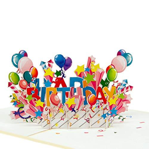 """Favour Pop Up Glückwunschkarte zum Geburtstag. Ein filigranes Kunstwerk, dass beim Öffnen mit einem gestalteten""""Happy Birthday"""" überrascht. TB124"""