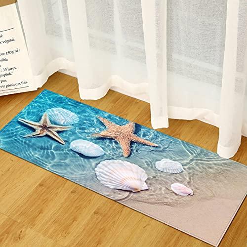 Alfombra Interior Y Exterior, Terraza Y Balcón, Escenario de Playa Adecuado para alfombras de Puerta de casa Antideslizantes