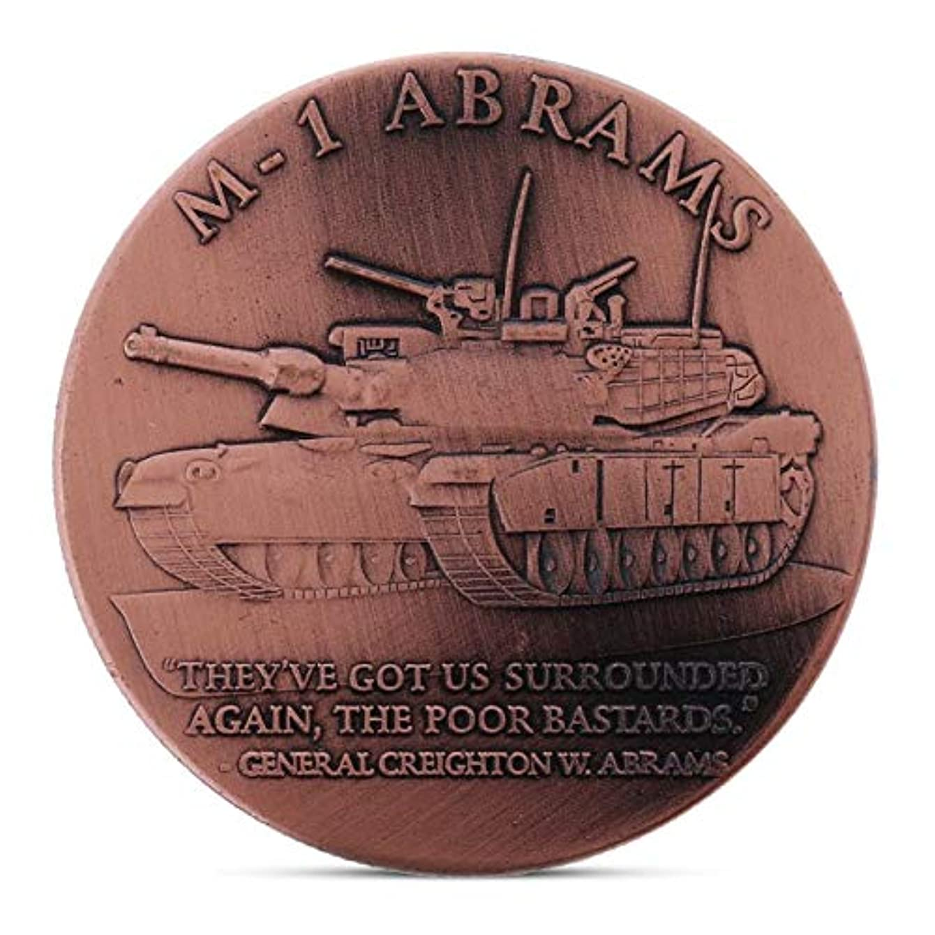 Coin Army - M 1 Main Battle Tank Commemorative Coin Collection Gift Souvenir - Gear World Military Frog Conditioner Army Tank Motor Coin Toy Air Coins Miyak Ingot Wireless Jiayu Handle Tank Rc