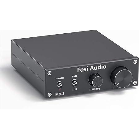 Fosi Audio Subwoofer Amplificador de 200 vatios Mono Audio Amp con frecuencia completa y subgraves conmutable