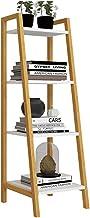 LHQ-HQ Kids Book Shelf Home Ladder planken 4-tier planken leunend ladder boekenkast boekenplank display