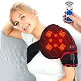 CREATRILL Infrared Shoulders Heating Pad with Vibration Massager, Auto Off Heated Shoulder Wrap...