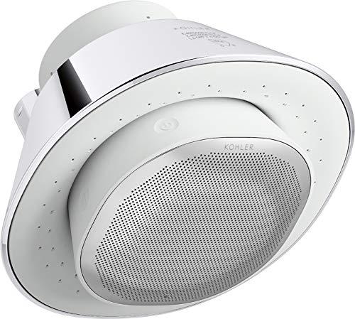 KOHLER Moxie Bluetooth Showerhead, Shower Speaker, Waterproof Speaker, Shower Radio, Rechargeable Speaker, Portable Speaker, 1.75 GPM, K-28238-GKE-CP, Polished Chrome