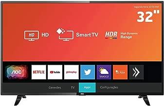 """Smart TV LED 32"""" HD AOC 32S5295/78G com HDR, Wi-Fi,"""