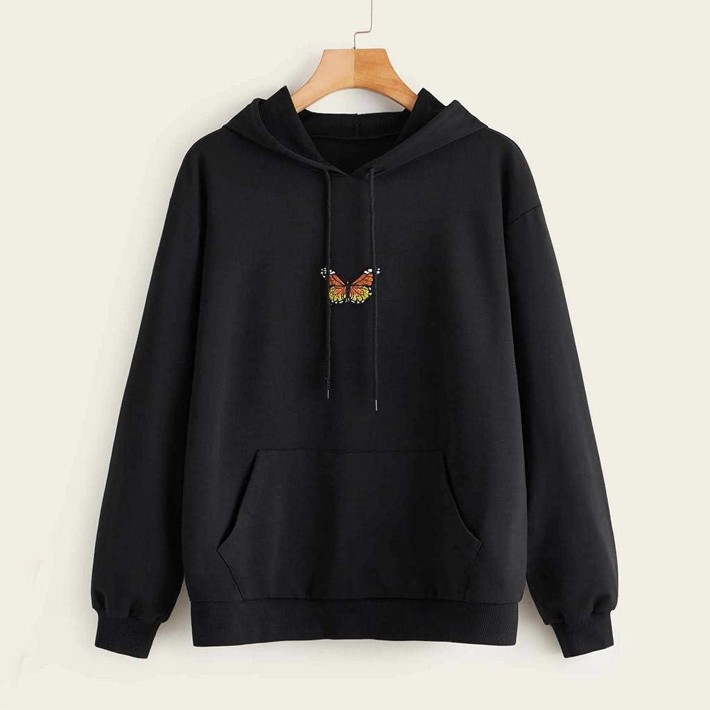 Eduavar Hoodies for Women Teen Girls Cute Graphic Printed Long Sleeve Drawstring Pullover Sweatshirts Casual Hoodie Tops
