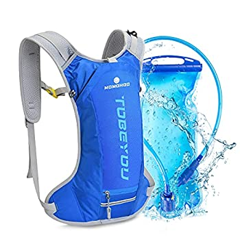 MOMOHOO Hydration Backpack Pack with 2L Hydration Water Bladder Hiking Backpack for Women Men Kids Hydration Backpack for Running Hydration Pack for Cycling Hydration Camping Climbing  Blue