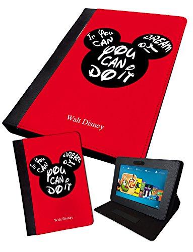 Mickey–Si You Can Dream It | Impreso Tablet Plegable Funda sintética