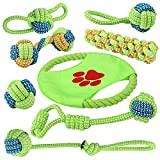 EAUPET Dog Rope Toys, 8 Pack Puppy Chew Toys, Dog Cotton Rope Knot Toys Dog Ball for Small Medium Dogs, Puppy Chew Teething, Stress-Free Dog Training Gifts