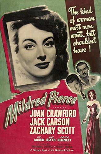 Posterazzi Mildred Pierce Us Left: Joan Crawford Zachary Scott Jack Carson 1945 Movie Masterprint Poster Print, (11 x 17)