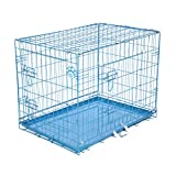 COZY PET Dog Cage 30' Blue Metal Tray Folding Puppy Crate Cat Carrier Dog Crate DC30BL. (We do not ship to Northern Ireland, Scottish Highlands & Islands, Channel Islands, IOM or IOW.)