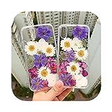 Coque Fleur Séchée Silicone Transparent pour Honneur 8 9X 9A 9C 9S Vue 20 S 30 Pro + 10 I Lite...