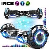 rcb overboard 6.5 pulgadas patinete eléctrico para niños y adolescentes scooter eléctrico auto-equilibrado con bluetooth self-balancing scooter con potente motor de 700w regalo para niño