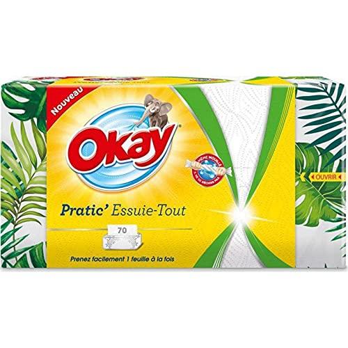 Okay Pratic' - Servilletas de papel (70 hojas, 8 unidades)