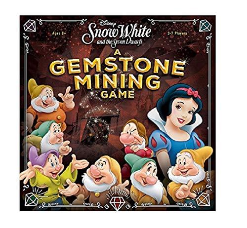 USAopoly USOQZ004494 Snow White Disney's Schneewittchen und die Sieben Zwerge: EIN Edelstein-Mining-Spiel, Mehrfarbig