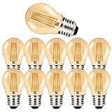 MZYOYO Pack de 10 Bombillas LED E27 G45,4W,Estilo Vintage,Color ámbar,Blanco Cálido,E27,2700K,luz Blanca Cálida,Bombilla Edison para Iluminación Retro,300 Lúmenes,Equivalente a 30W,No Regulable
