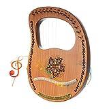 log leya a 16 corde, mini arpa portatile, lira, strumento a corde, adatto a natale, capodanno, feste di compleanno, strumenti di intrattenimento, regali per bambini