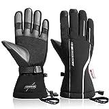 KINGSBOM Waterproof Ski & Snow Gloves, 3M Thinsulate Winter Warm Touch Screen Snowboard Gloves for Men & Women (Medium)
